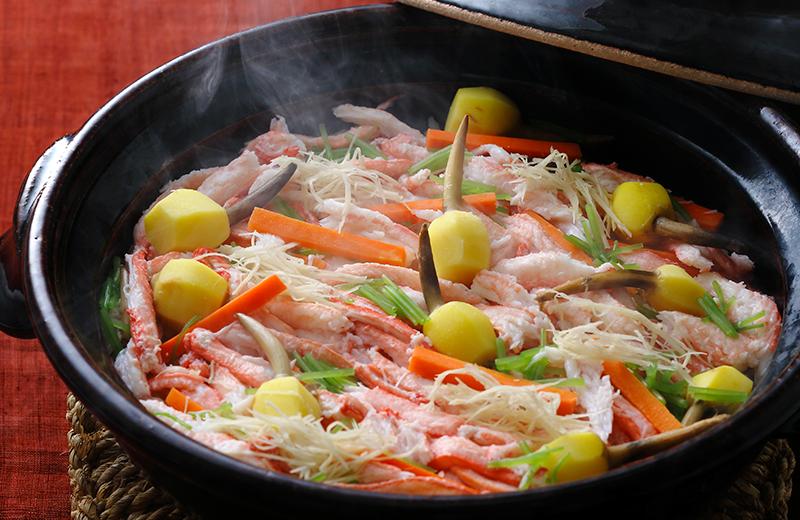 蟹とくわいの炊き込みご飯