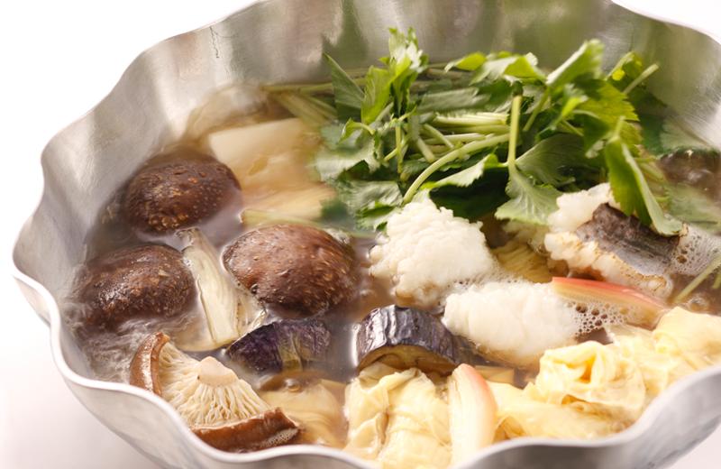 京のひめ苞 焼目穴子と野菜鍋