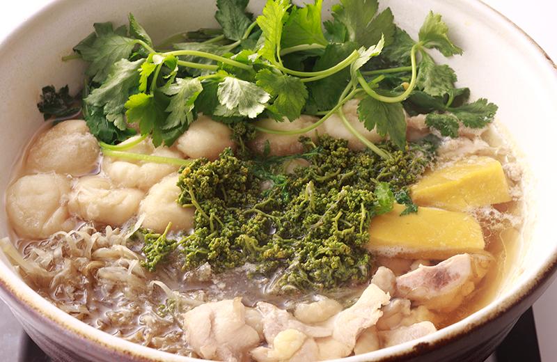 京のひめ苞 花山椒と鶏肉の鍋