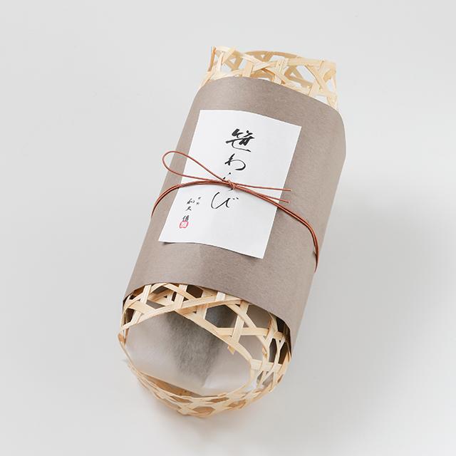 ささのか菓子 笹わらび【竹籠】5本入
