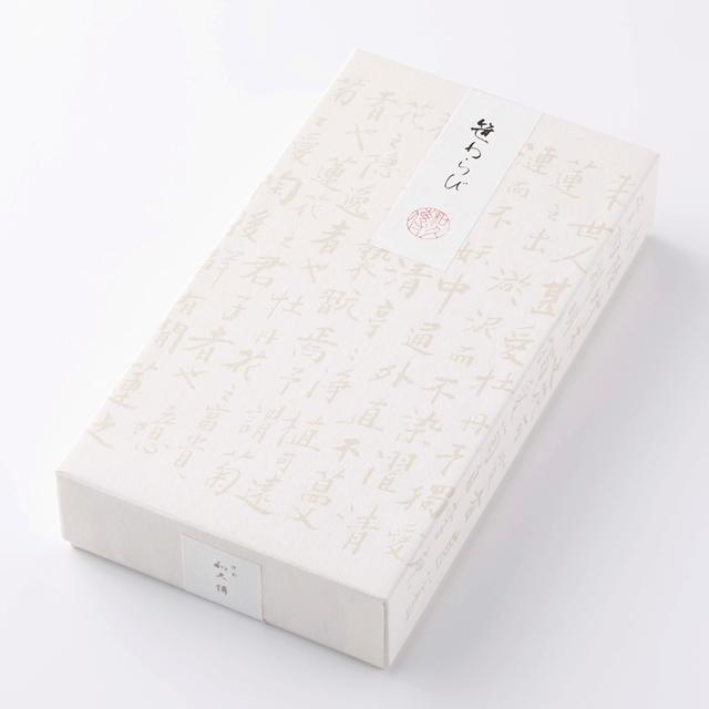 ささのか菓子 笹わらび【紙箱】3本入