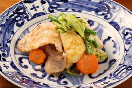 野菜の米味噌糀炒め