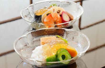 夏野菜と彩りオードブル